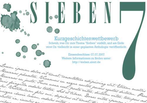 Sieben - unser Flyer